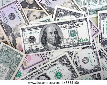 US $ Dollar Money - stock photo