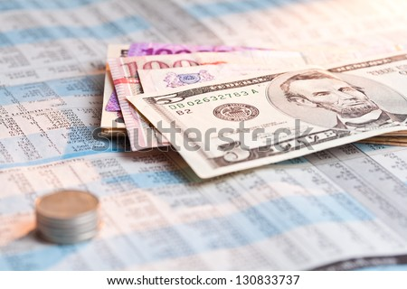 US dollar note, American bank note