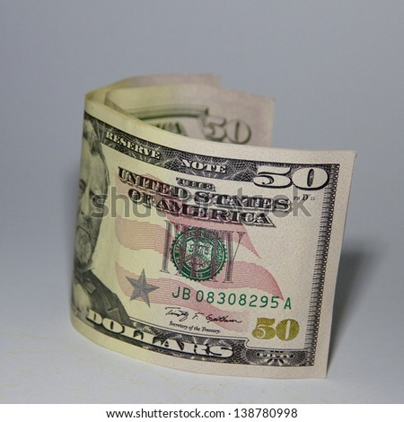 US 50 Dollar Notes - stock photo
