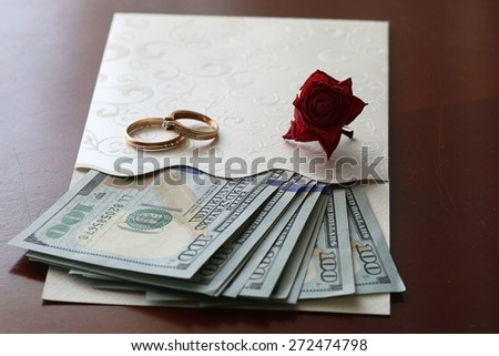 US dollar rose gift wedding gift money