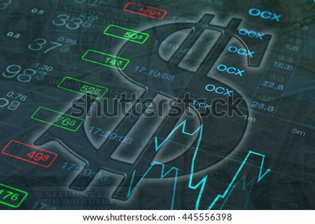 US Dollar sign. Money background. Forex background with US Dollar sign at chart, money bill and numbers background. Black abstract money background with dollar symbol.