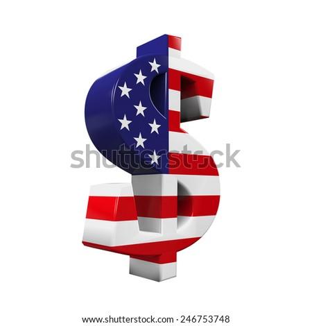 US Dollar Symbol - stock photo