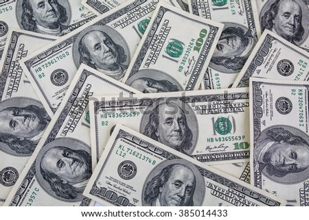 US dollars. Background of dollars