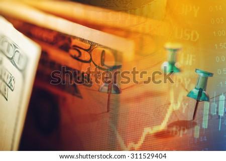 US dollars. Macro image. - stock photo