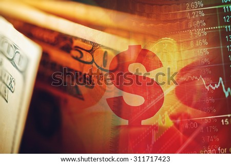 US dollars. Macro image. Finance concept.