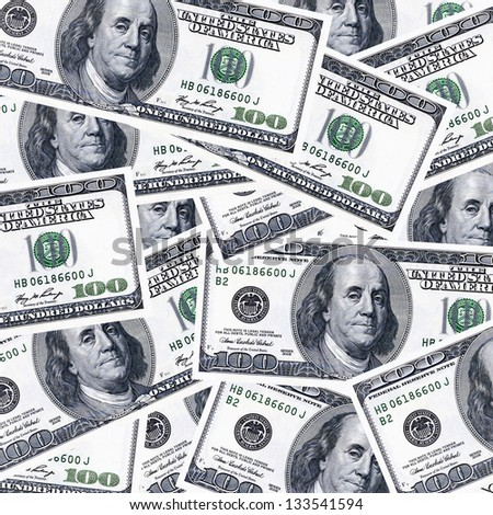 US 100 dollars money background