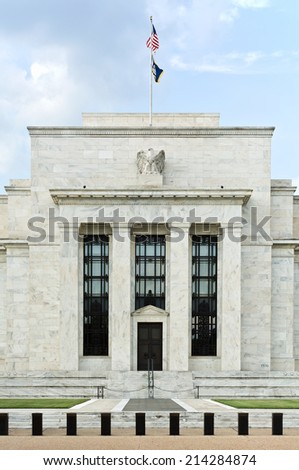 US Federal Reserve Board Building in Washington - stock photo