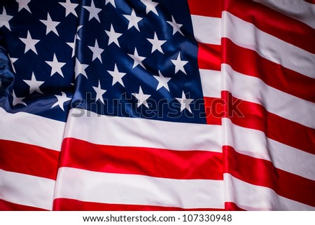 US Flag, American flag - stock photo