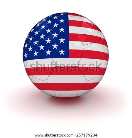 US Flag Soccer Ball - stock photo
