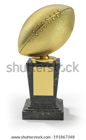 US football trophy - stock photo