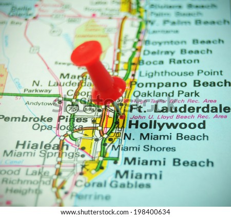 US Map Florida - stock photo