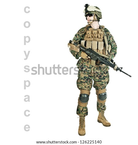 US marine - stock photo