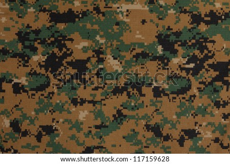 US marine force marpat digital camouflage fabric texture background - stock photo