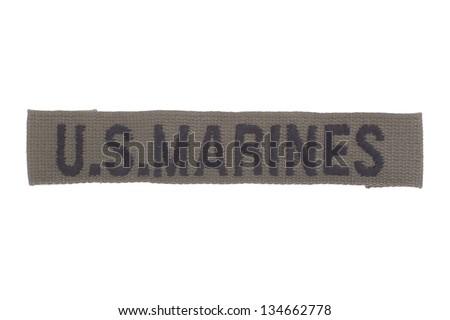 US MARINES uniform badge - stock photo