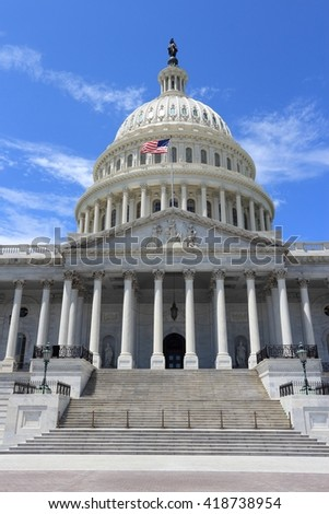 US National Capitol - landmark in Washington D.C.