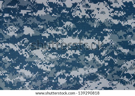 US navy digital camouflage fabric texture background - stock photo