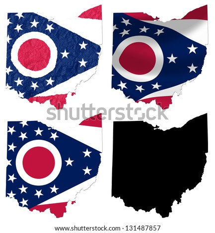 Ohio State Flag Stock Images RoyaltyFree Images Vectors - Us map with state flags
