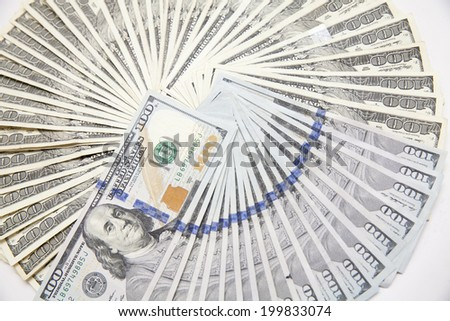 US One Hundred Dollar Bills - stock photo