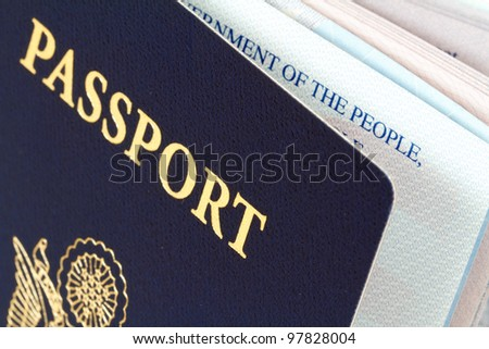 us passport - stock photo