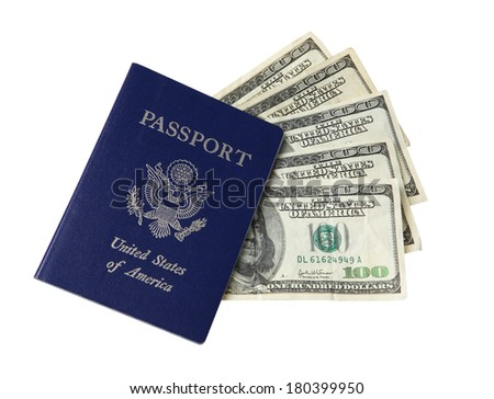 US Passport and 100 Dollar Bills