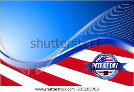 US patriot day sign illustration design graphic background - stock photo