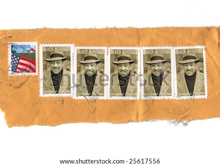 us postage stamps representing langston hughs from 1934