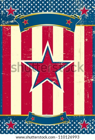 US poster with red star. A patriotic background for you