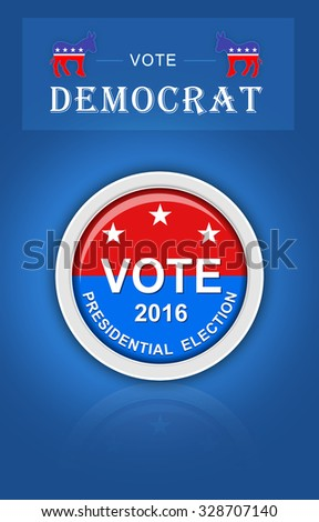 US presidential election 2016 - stock photo