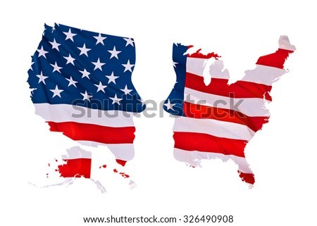 US presidential elections map concept isolated on white background - stock photo
