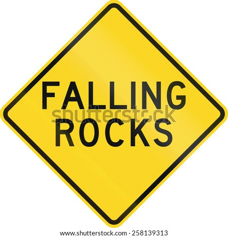 US road warning sign: Falling rocks