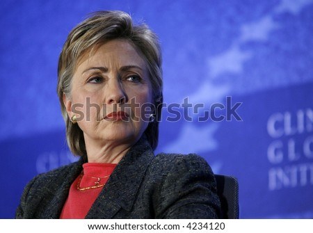 US Senator Hillary Rodham Clinton - stock photo