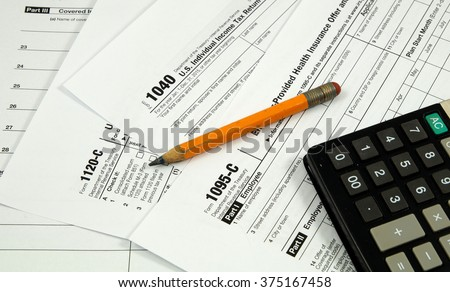 US tax forms (focus on part of the image only)