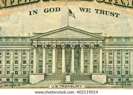 US Treasury Department Washington DC - stock photo