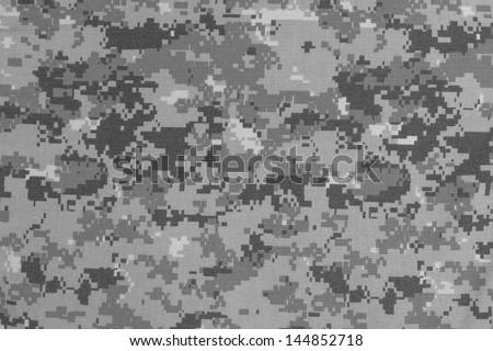 US urban digital camouflage fabric texture background - stock photo