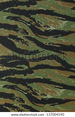 US vietnam green tigerstripe camouflage fabric texture background - stock photo