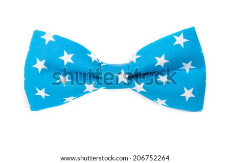 USA American flag on the bow tie isolated on white background - stock photo