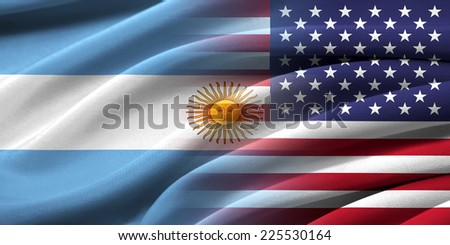 USA and Argentina. Relations between two countries. Conceptual image. - stock photo