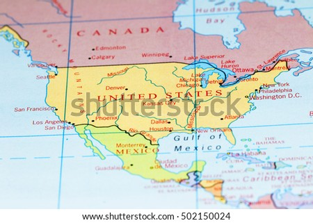 Canada Usa Map Stock Images RoyaltyFree Images Vectors - Canada and usa map