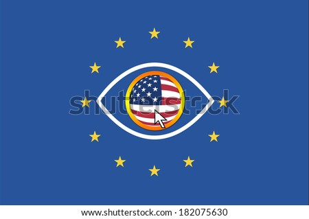 USA and European Union. US Administration keeps an close eye on Europe  - stock photo