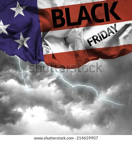 USA Black Friday waving flag
