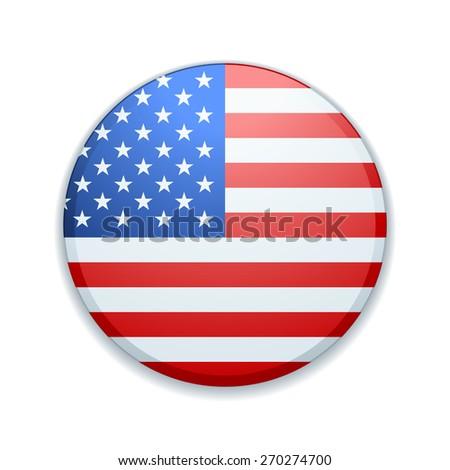 USA Button - stock photo