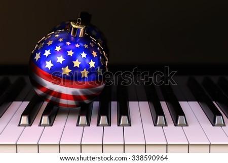 USA Christmas concept - stock photo