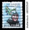 USA - CIRCA 1995: A post stamp printed in USA shows portrait of  Aviation pioneer Eddie Rickenbecker, circa 1995 - stock photo
