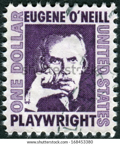 USA - CIRCA 1967: A postage stamp printed in USA, shows an Irish American playwright and Nobel laureate in Literature, Eugene Gladstone O'Neill, circa 1967