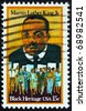 USA - CIRCA - 1979: a stamp printed in the United States of America shows dr. Martin Luther King Jr. And civil rights marchers, Black heritage, circa 1979 - stock photo