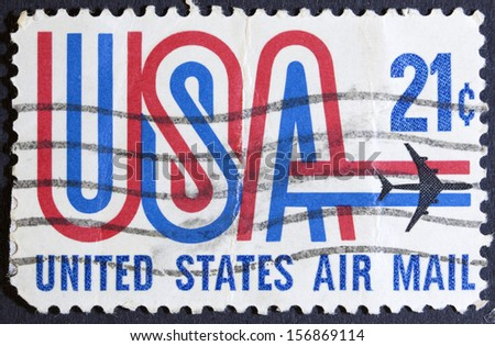 USA - CIRCA 1973: A stamp printed in the USA showing 21c series, circa 1973