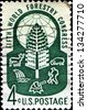 USA - CIRCA 1960: A stamp printed in United States of America dedicated Fifth World Forestry Congress, circa 1960 - stock photo