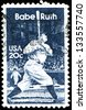 USA - CIRCA 1983: A stamp printed in United States of America shows baseball great Babe Ruth, circa 1983 - stock photo