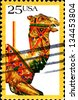 USA - CIRCA 1988: A  stamp printed in United States of America shows camel, circa 1988 - stock photo