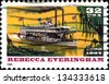 USA - CIRCA 1996: A stamp printed in United States of America shows  �¢??Rebecca Everingham�¢?�� was considered the most luxurious of the steamboats on the Chattahooche River, circa 1996 - stock photo